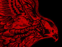Red Falcon T-Shirt Design by