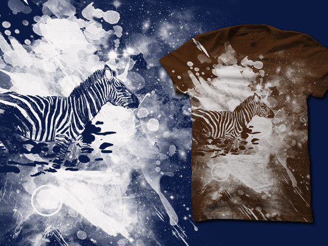 zebra splashed