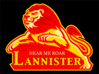 House Lannister Team Logo T-Shirt Design by