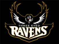 Three Eyed Ravens Team Logo T-Shirt Design by