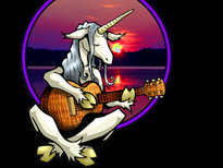 Unicorn Guitarist T-Shirt Design by