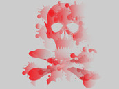Red Scull Splatter by Richardwc