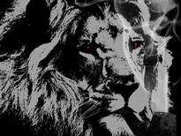 smoking lion T-Shirt Design by
