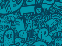 Blue Doodle T-Shirt Design by