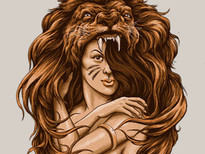 Lion Queen T-Shirt Design by