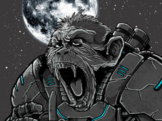 space monkey T-Shirt Design by