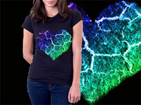 Rainbow Heart T-Shirt Design by