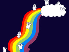 Clouds Love Rainbows T-Shirt Design by