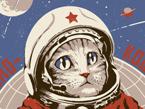 Soviet Space Cat T-Shirt Design by