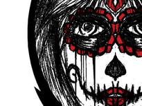 Lady Skull T-Shirt Design by