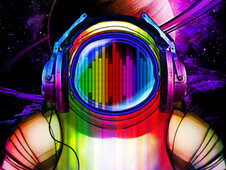 Techno Spacemen T-Shirt Design by