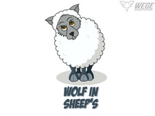 wolf in sheep's clothing T-Shirt Design by
