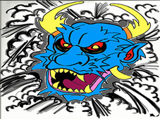 Blue Oni T-Shirt Design by