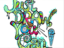 Just Draw, You CAN! T-Shirt Design by