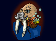 cheeky walrus T-Shirt Design by