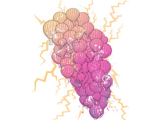 52 Pink and Purple Balloons! by chaddoesdesign