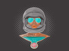 Lady Astronaut T-Shirt Design by