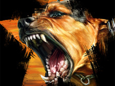 Barking Dog T-Shirt Design by