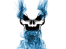 Smoking Skull T-Shirt Design