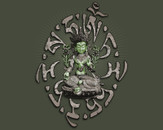 Green Tara by atagliata