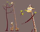 stretchy giraffe by trabe
