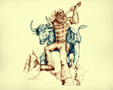 Paul Bunyan and Babe the Blue Ox by gibbs019