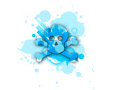 Blue Skull and Crossbone by Sean2407