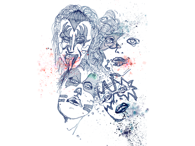 Kiss- illustration