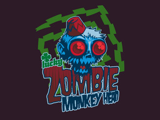 Lucky Zombie Monkey Head by Ominousrobot