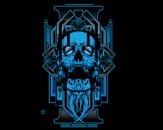 blue skull by tmw391
