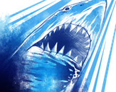 great blue shark attack by flaminghost