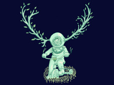 underwaterdeer T-Shirt Design by