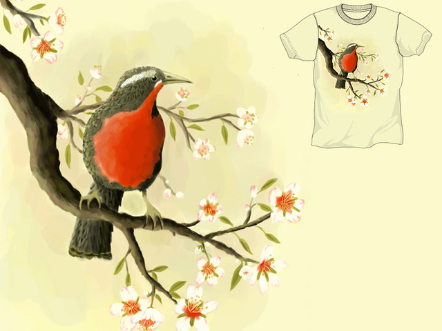 Bird and Blossoms