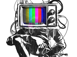 Retro TV Colour Test Man by LukeBatten
