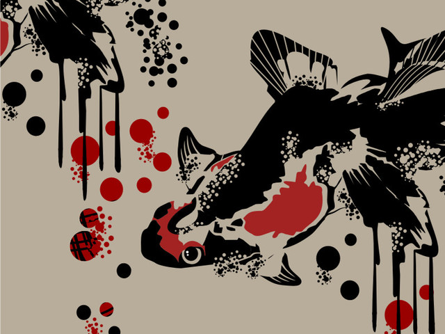 Red and Black (Koki Fish)