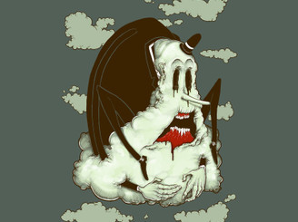 Creep Cloud Face Melt by KillerNapkins