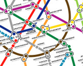Moscow metro map by kaster