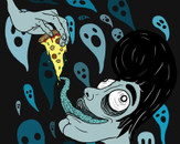 Pizza Ghost by Octodream