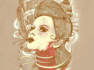 Art Deco Zombie by a_mar_illo