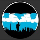 drapeboy wearing Umbrella Man VS Sunny Day by tee_labs