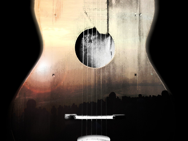 Guitar sunrise
