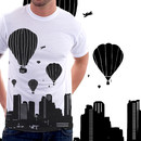 Reacher wearing balloons and the city by soltib