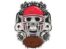 Zombie Football T-Shirt Design by