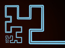 Hilbert Curve T-Shirt Design by