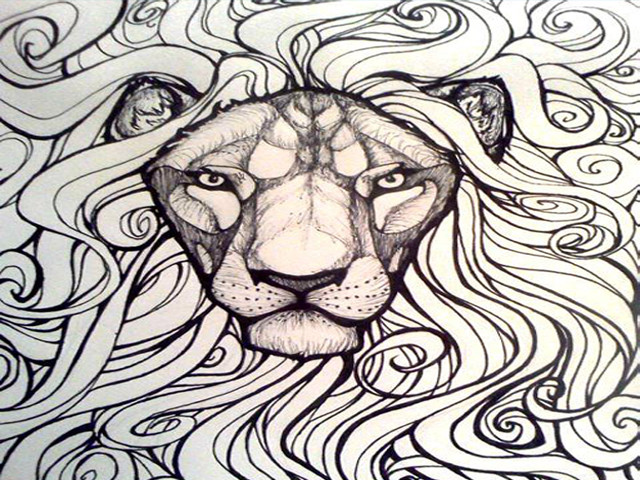 Sharpie Lion