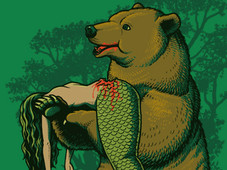 Bear Eats Fishes T-Shirt Design by