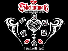 Skelanimals Love Bites T-Shirt Design by