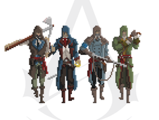 Pixel Assassins T-Shirt Design by