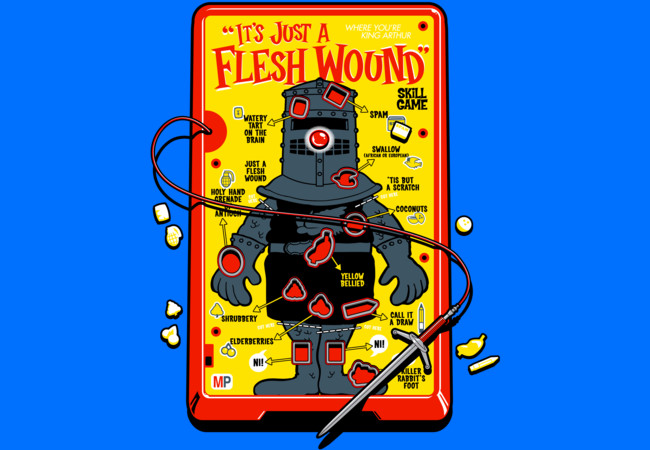 """It's Just A Flesh Wound"" Game  Artwork"