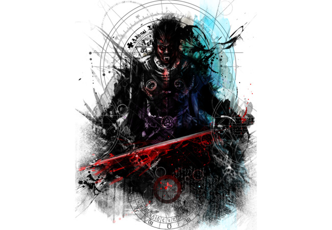 Blood Stained Sword  Artwork